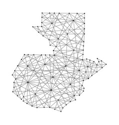 map of guatemala from polygonal black lines vector image