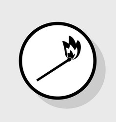 Match sign flat black icon vector