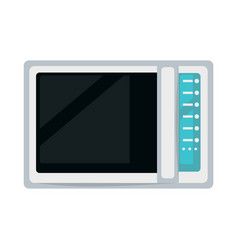 Modern microwave oven vector