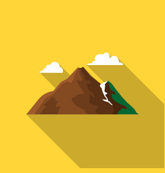 Mountain icon of for web and vector