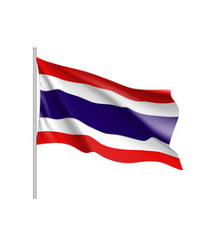 National flag kingdom of thailand vector