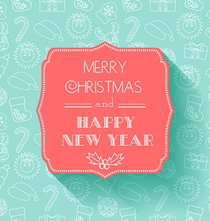 New Year and Christmas Card Flat design Seamless vector image vector image