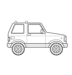 Outline off-road suv car body style icon vector