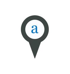 Pin icon symbol sign vector