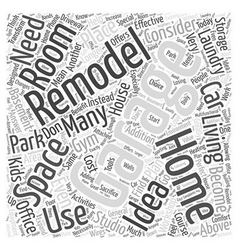 Remodeling ideas for your garage word cloud vector