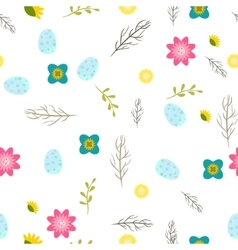 Romantic letters and flowers seamless pattern vector