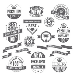 Set of labels and ribbons for sale vector image