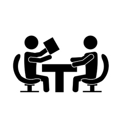 team work business people icon image vector image vector image
