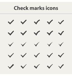 Tick icon set vector