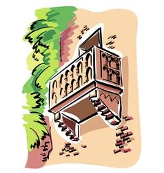 Verona juliets balcony vector