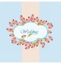 Wedding card invitation vector