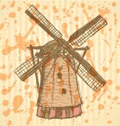 Wind mill vector