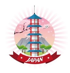 Tower japan culture design vector