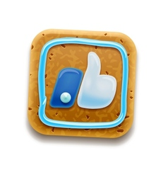 Cookie thumbs up icon vector