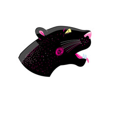 Graphics head of a black panther vector