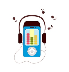 A view of music player vector