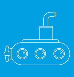 Submarine icon outline vector