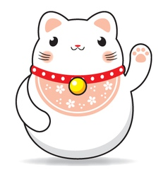 Maneki neko cat vector