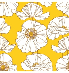 Floral seamless pattern with poppies vector