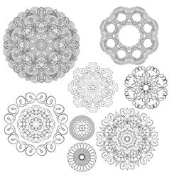 set circle 1color 2 380 vector image