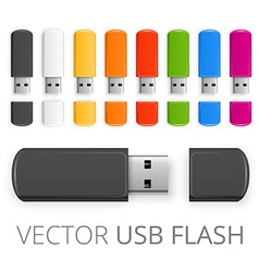 Colored usb flash vector