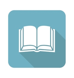 Square book icon vector