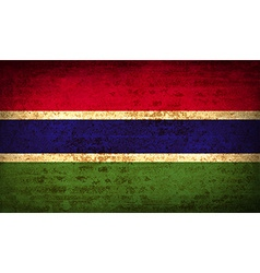 Flags gambia with dirty paper texture vector