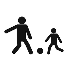 New man and children icon vector