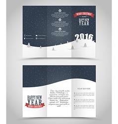 Design christmas and new year flyer vector
