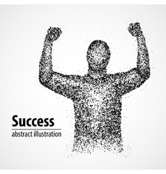 Success victory abstract luck winner vector