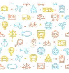 Travel and transportation background pattern vector