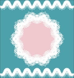 Lacy frame and borders vintage style vector