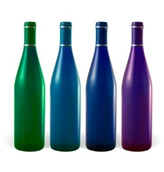 Colored bottles vector