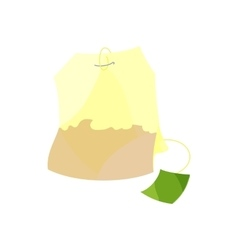 Teabag icon cartoon style vector