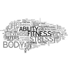 Are you fit text word cloud concept vector