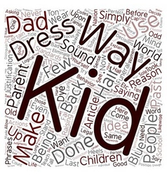 Back when i was a kid text background wordcloud vector