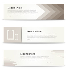 Banners for print minimalistic banners set vector