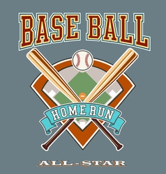 Baseball allstar homerun vector