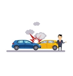 Car and Transportation Collision vector image vector image