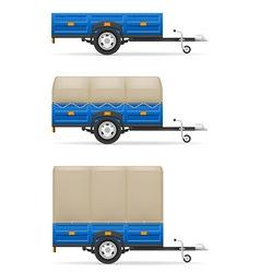 Car trailer 04 vector
