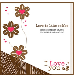 Cards Love is like coffee vector image