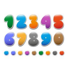 Cheerful figures2 vector image
