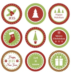 Christmas cupcake toppers vector