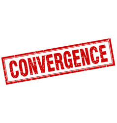 Convergence square stamp vector