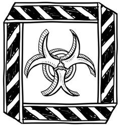 doodle bio hazard vector image vector image