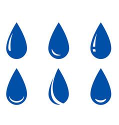 droplet set vector image vector image