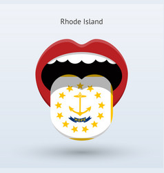 Electoral vote of rhode island abstract mouth vector