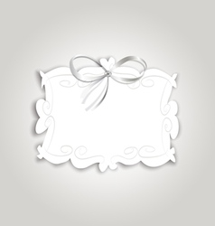 Frame ribbon vector