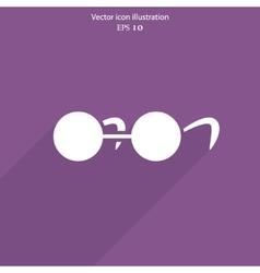 glasses web icon vector image vector image