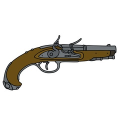 Historical matchlock pistol vector image vector image